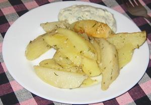 Картошка в майонезе запеченная в духовке
